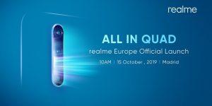 El lanzamiento de Realme X2 Pro está previsto para el 15 de octubre en Madrid