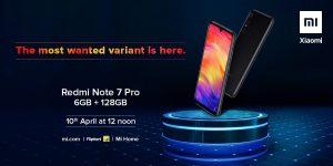 El modelo Redmi Note 7 Pro 6 GB RAM saldrá a la venta a partir del 10 de abril