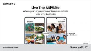 El modo privado Samsung AltZLife en Galaxy A71 y A51 se vuelve oficial