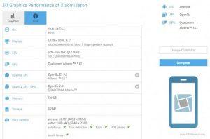 El nombre en clave de Xiaomi Mi 6c 'Jason' aparece en GFXBench, cuenta con Snapdragon 660 y 6 GB de RAM