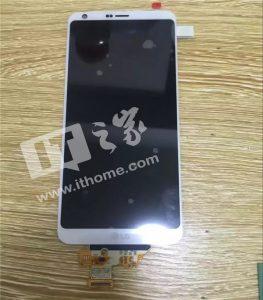 El panel frontal filtrado de LG G6 muestra pequeños biseles y esquinas de pantalla redondeadas