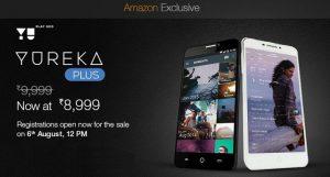 El precio de Yu Yureka Plus se redujo a Rs.  8999