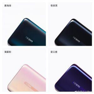 El próximo teléfono inteligente insignia de Oppo, Reno, vendrá en cuatro opciones de color