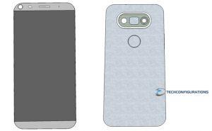 El renderizado 3D del LG G5 revela una pantalla Quad HD de 5.6 pulgadas con configuración de cámara dual