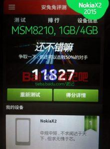 El sucesor de Nokia X2 basado en Android visto en los puntos de referencia con CPU de 1,2 GHz