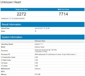 El supuesto Nokia 9 aparece en Geekbench con 6 GB de RAM