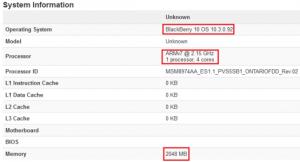 El teléfono BlackBerry 'Ontario' se filtró en Benchmarks;  viene con procesador Snapdragon 800 de cuatro núcleos