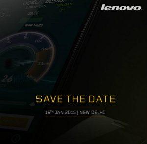 El teléfono inteligente 4G asequible Lenovo A6000 se lanzará en India el 16 de enero