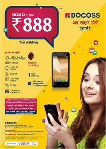 El teléfono inteligente Android Docoss X1 se lanzó en India por Rs.  888