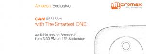 El teléfono inteligente Android One de Micromax saldrá a la venta exclusivamente en Amazon.in
