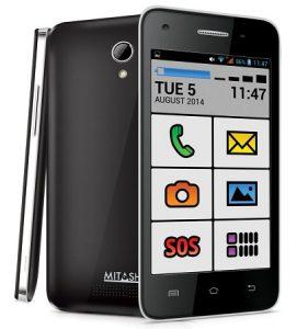 El teléfono inteligente Mitashi PLAY Senior Friend Android KitKat para personas mayores lanzado por Rs.  4999