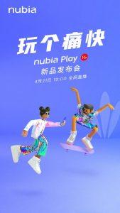 El teléfono inteligente Nubia Play 5G se lanzará el 21 de abril en China