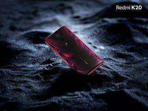 El render oficial de Redmi K20 muestra cámaras traseras triples y traseras con degradado