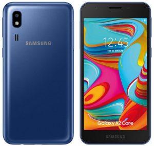 El teléfono inteligente Samsung Galaxy A2 Core Android Go lanzado en India por ₹ 5,290