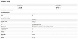 El teléfono inteligente Xiaomi Libra con superficies de procesador Snapdragon 808 en línea