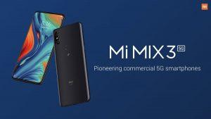 El teléfono inteligente Xiaomi Mi MIX 3 5G con tecnología Snapdragon 855 SoC se lanzó en el MWC 2019