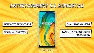 El teléfono inteligente económico Realme C3 se vuelve oficial en India;  el precio comienza en ₹ 6,999