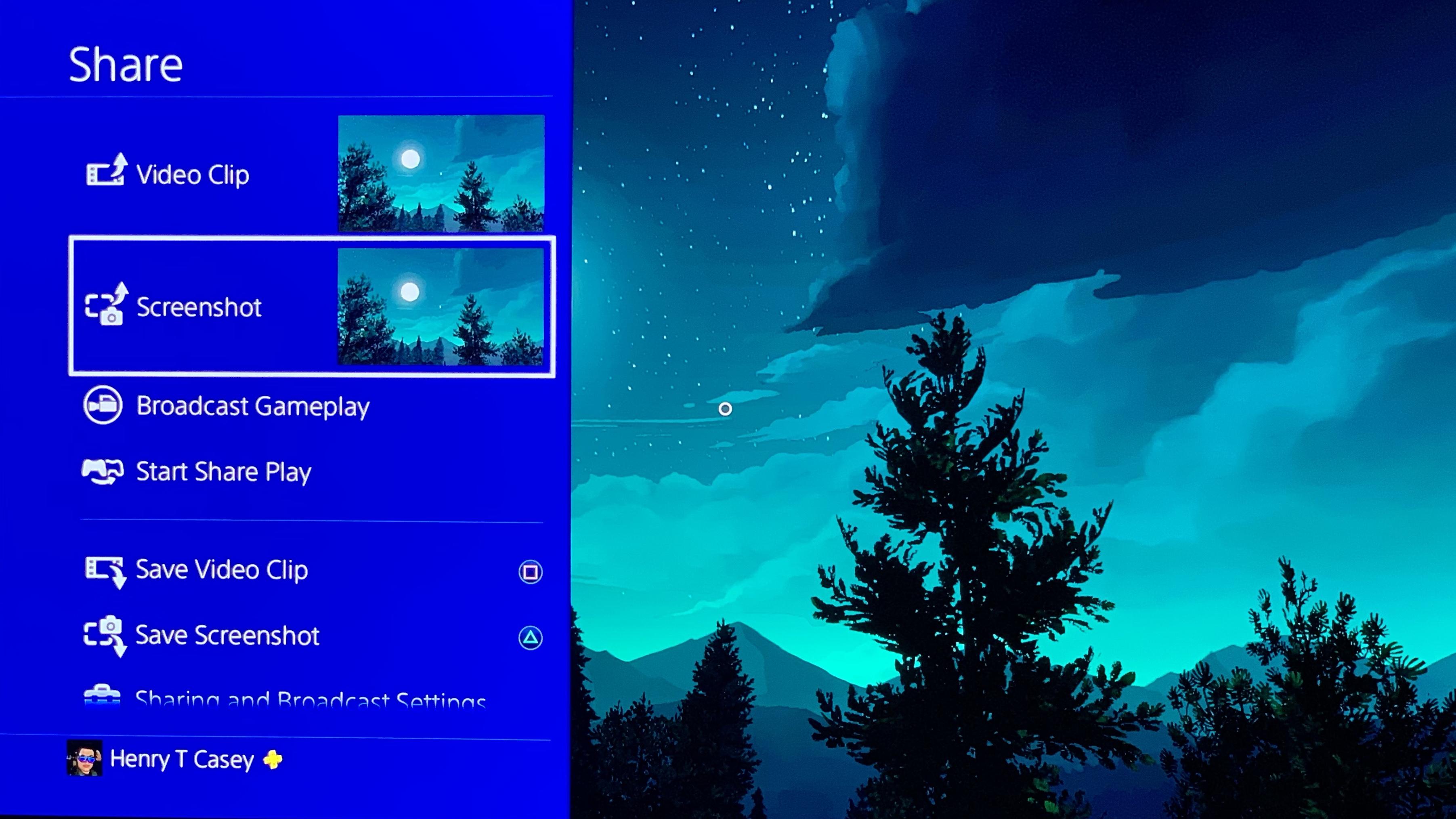 Pasos de captura de pantalla de PS4