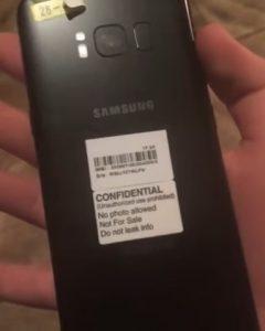 El video filtrado muestra el escáner de huellas dactilares montado en la parte trasera del Samsung Galaxy S8