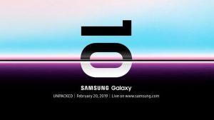 Es oficial: Samsung Galaxy S10 se lanzará el 20 de febrero