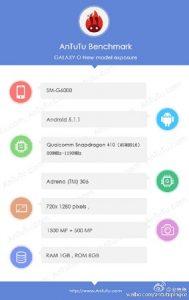 Especificaciones del Samsung Galaxy Mega On reveladas en los puntos de referencia