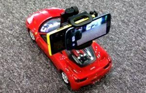 Estabilización de imagen en Nokia Lumia 920 probada usando un automóvil controlado a distancia Vs SGS3