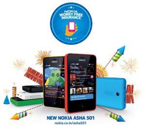 Este Nokia Diwali ofrece seguro gratuito en Asha 501