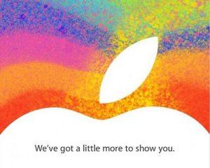 Evento de lanzamiento del iPad Mini programado para el 23 de octubre, Apple envía una invitación