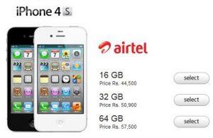 Airtel presenta planes de tarifas para el iPhone 4S