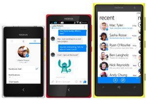 Facebook Messenger ahora disponible para dispositivos Nokia X, Nokia Asha y Nokia Lumia