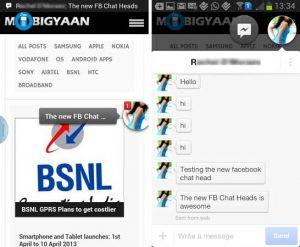 Facebook Messenger obtiene la función Chat Heads