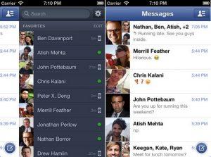 Facebook Messenger para iPhone y Android actualizado, brinda soporte para iPhone 5 y nuevas funciones