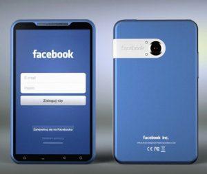 El concepto de Facebook Phone es todo azul.  ¿Me gusta o no me gusta?