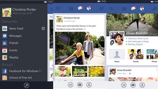 Aplicación Facebook-Windows-Phone-8