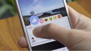 Facebook comienza a implementar Reacciones como una extensión del botón Me gusta