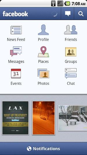 Facebook para Android obtiene Chat