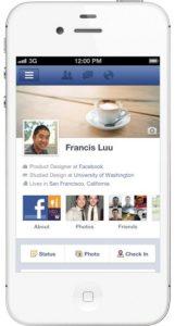 Facebook para iPhone y iPod touch actualizado con Timeline