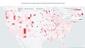 Facebook publica un mapa de síntomas de COVID-19 en EE. UU.  planea desplegarse en otras regiones