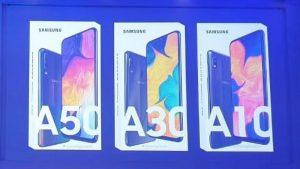 Filtración de imágenes de Samsung Galaxy A10, A30 y A50 en línea