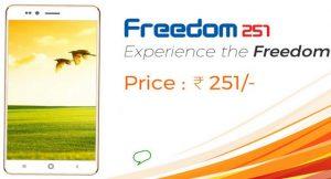 Ringing Bells Freedom 251 El teléfono inteligente Android más asequible de la India lanzado por Rs.  251