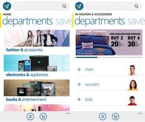 Flipkart.com lanza la aplicación Windows Phone