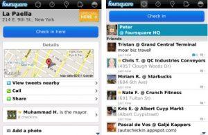 Foursquare para BlackBerry actualizado a v3.3
