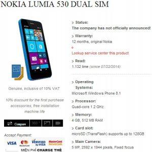 Fuga de especificaciones de Nokia Lumia 530, Dual SIM y 512 MB de RAM a cuestas