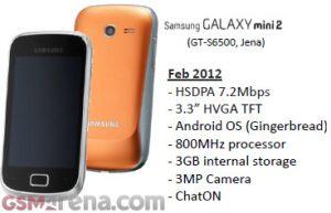 Fugas de Samsung Galaxy mini 2 de bajo presupuesto, podrían lanzarse alrededor del MWC