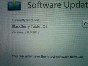 Fugas de actualización no oficiales de BlackBerry Tablet OS v2.0.0.3013
