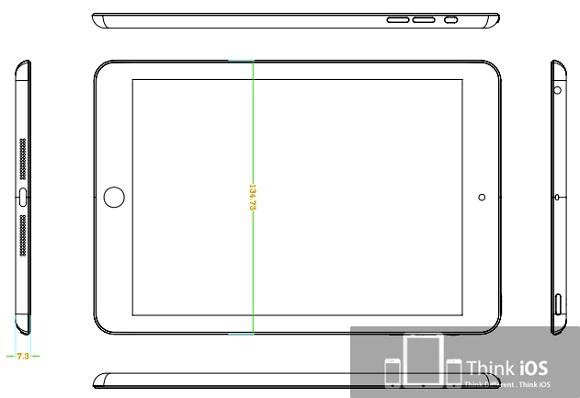 Fugas de dibujos, carcasas y modelos de ingeniería del iPad Mini