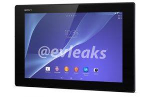 Fugas de imagen de prensa de Sony Xperia Z2 Tablet