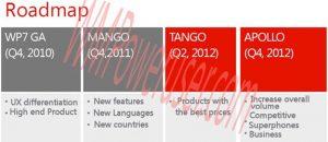 Fugas de la hoja de ruta de Windows Phone, Tango y Apollo llegarán el próximo año