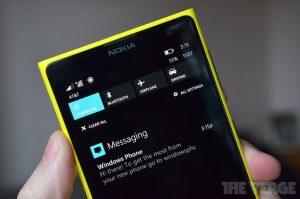 Fugas del Centro de acción de Windows Phone 8.1, también conocido como Centro de notificaciones