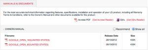 Fugas manuales de LG Nexus 4 en línea, modelo de 8 GB y 16 GB confirmado